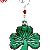 Waterford 2014 Green Shamrock Ornament