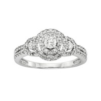 I Promise You Round-Cut Diamond Engagement Ring in Platinaire (1/2 ct. T.W.) (White)