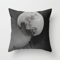 Sacred Moon Throw Pillow by Ducky B