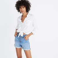 High-Rise Denim Shorts: Button-Front Edition : shopmadewell more denim dressing | Madewell