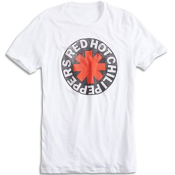 Lucky Brand Red Hot Chili Peppers Mens - Bright White