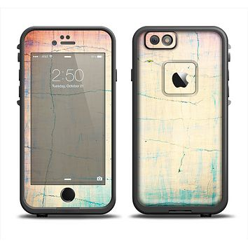 The Vintage Faded Colors with Cracks Skin Set for the Apple iPhone 6 LifeProof Fre Case
