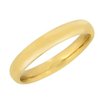 Men's Heavy 4.0 mm Wide Solid 14k Gold Band Size 11 Comfort Fit