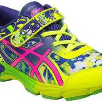 ASICS Gel-Noosa Tri 11 ~ Running Shoe Little Kid~ Safety Yellow/Pink Glow/ Blue