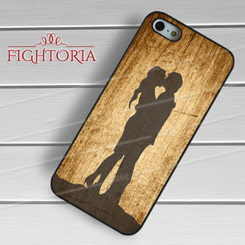 shilouette couple kissing-1nna for iPhone 6S case, iPhone 5s case, iPhone 6 case, iPhone 4S, Samsung S6 Edge