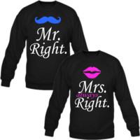 MR MRS ALWAYS RIGHT LOVE COUPLE CREWNECK SWEATSHIRT