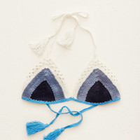 AERIE HAND CROCHET TRIANGLE BIKINI TOP