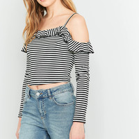Pins And Needles Lettuce Edge Cold Shoulder Top | Urban Outfitters