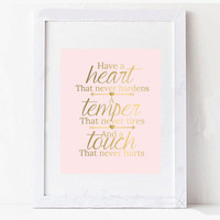 Pink and Gold Typography Inspirational Quote Digital Printable Design