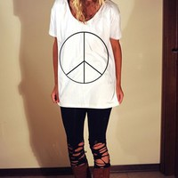 PEACE TEE DRESS by noiseandfeathers on Sense of Fashion
