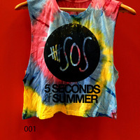 5SOS  5seconds of summer  tye dye crop tank top 5 seconds of summer tshirt rainbow crop