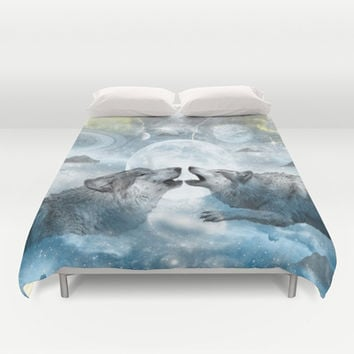 Wolves Duvet Cover by Haroulita