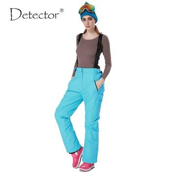 Detector Women ski snow pants  waist lady trousers winter skating pants skiing outdoor ski pants for women