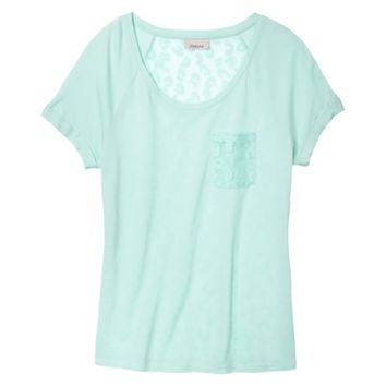 AMBAR Women's Lace Tee - Mint