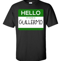Hello My Name Is GUILLERMO v1-Unisex Tshirt