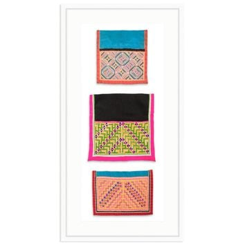 Framed African Textile Trio II