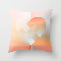 Danish Heart Coral Throw Pillow by Gréta Thórsdóttir