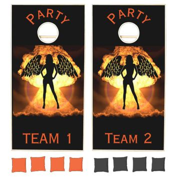 Fire Angel Cornhole Set
