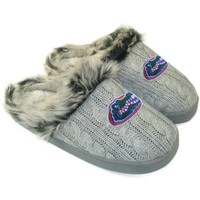 Florida Gators Ladies Knit Slippers - Gray