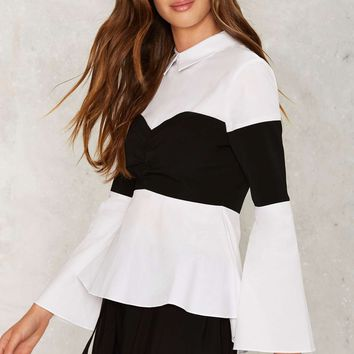 Left Field Bell Sleeve Shirt