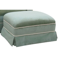 Angel Song 221021179 Classic Velvet Green Adult Club Gliding Ottoman