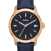 Fossil 'Townsman' Leather Strap Watch, 36mm | Nordstrom