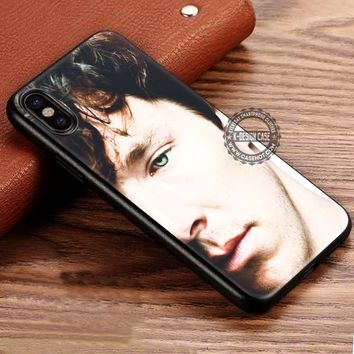 Beautiful Eye Benedict Cumberbatch Sherlock iPhone X 8 7 Plus 6s Cases Samsung Galaxy S8 Plus S7 edge NOTE 8 Covers #iphoneX #SamsungS8