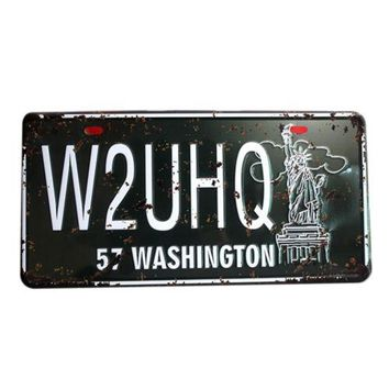 America Vintage Car Plate Wall Hanging Decoration   12