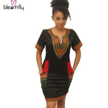African dresses for women Vintage Dashiki Dress