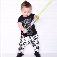 Fashion baby boy clothes star wars printing t-shirt+pants newborn baby boys clothing set infant outfits children's clothing