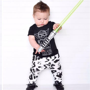 Fashion baby boy clothes ( t-shirt+pants )