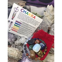 Crystal starter set ~ and 🌟🌟🌟🌟🌟reviews Chakra Crystal bracelet & Stones