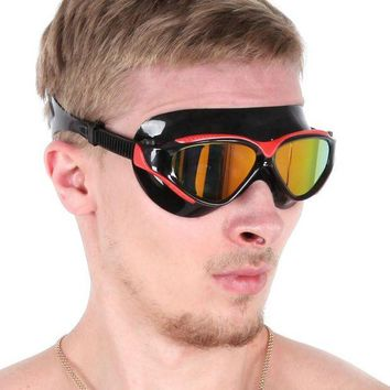 DCCK7N3 Whale brand anti-fog anti-ultraviolet swimming goggles men and women unisex coating swimming glasses adult  big face eyewear