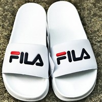 FILA men and women fashion trend slippers F