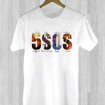 5 Second Of Summer design for T Shirt Mens and T Shirt Girls