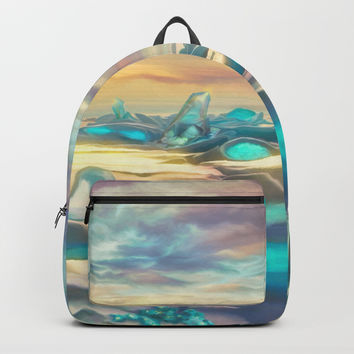 Crystal snow desert Backpack by exobiology