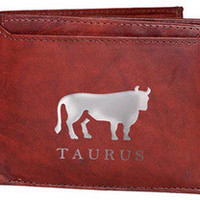 Taurus Sign Leather Wallets