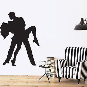 Wall Sticker Vinyl Decal Tango Dancers Samba Rumba Man and Woman Passion Unique Gift (n034)