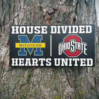 "Customize YOUR House Divided 12""x24"" Handpainted Wood Sign"