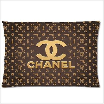 """Great Pillow Case 1996Chanel Two Side 18""""x26"""" With a Zippered"""