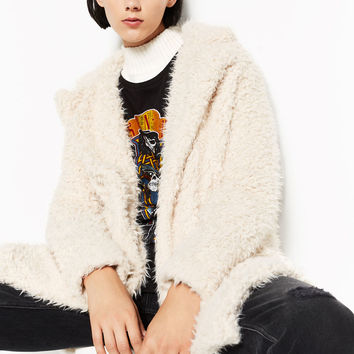 SOFT FAUX FUR COAT