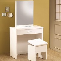 Coaster Home Furnishings 300290 Contemporary Vanity, White