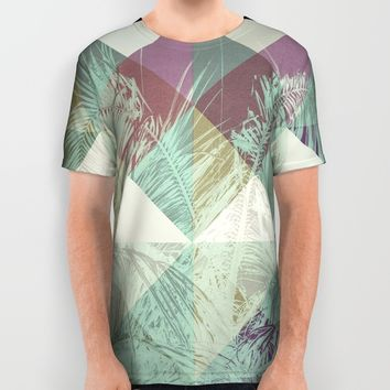 Palm Trees V All Over Print Shirt by Metron