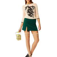 Short Notice Lace Mini Skirt - Green