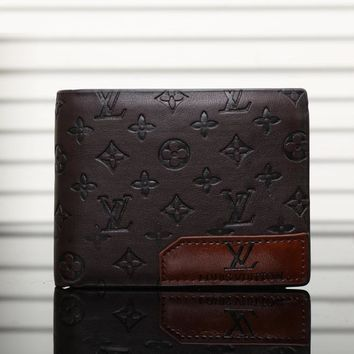 LV Men Leather Purse Wallet-3