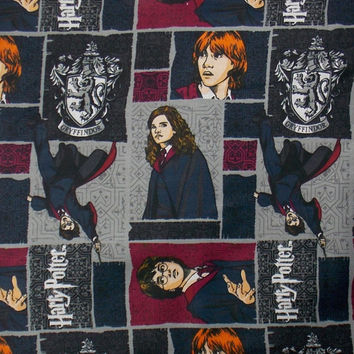 Harry Potter Fabric By the Yard Movie Fabric Character Fabric  Quilt Fabric Craft Fabric Harry Potter