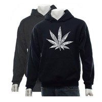 Mens GREY Marijuana Leaf Sweatshirt S 50 Street Terms For Marijuana