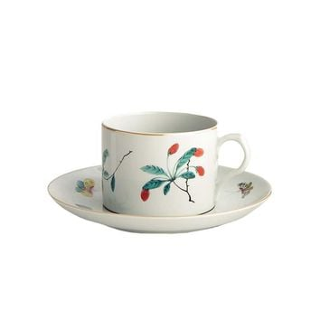 Mottahedeh Famille Breakfast Cup and Saucer