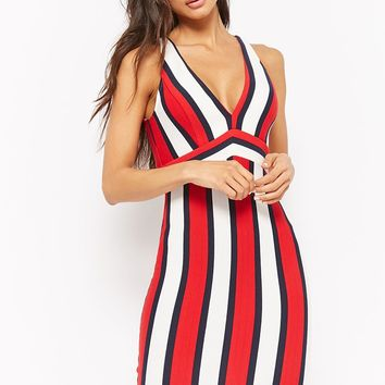 Ribbed Striped Bodycon Dress