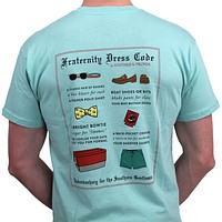 Fraternity Dress Code Tee in Aqua by Southern Proper - FINAL SALE